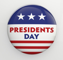 Presidents Day badge