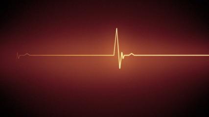 Orange heart monitor line