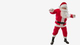 Santa Claus walking and dancing