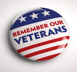 Veterans Day Badge poster