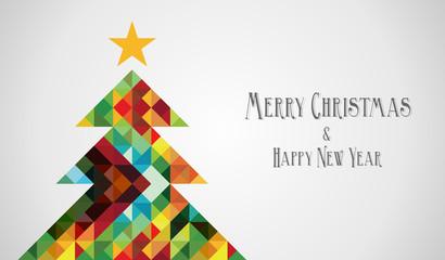 Diversity mosaic arty Christmas Tree