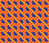 Orange Zig Zag Checkered