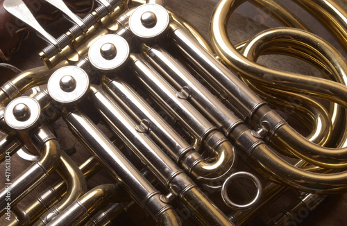 French Horn, Musical Instrument Detail