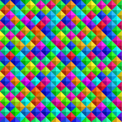 Bold Colorful 3-d Background