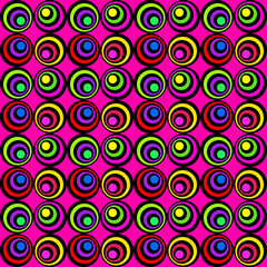 Seamless Colorful Psychedelic Pattern