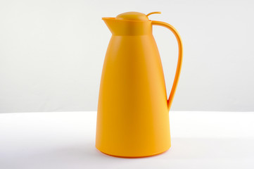 Yellow thermos bottle