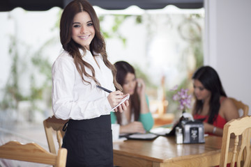 Waiting tables with a smile