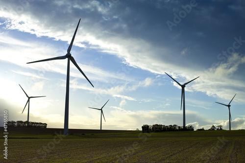 Campagne, énergie, éolienne, renouvelable, écologique