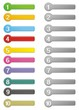 10 step colorful buttons