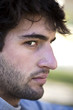 Profil, barbe, visage, expression, homme, jeune,
