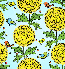 Decorative colorful funny seamless pattern