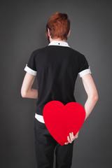 Ein Herz für die Liebe in Rot