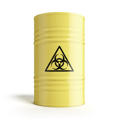 Barrel with biohazard symbol