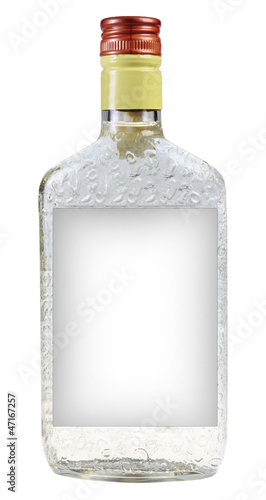 A bottle of vodka