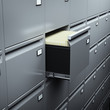 File cabinet with documents