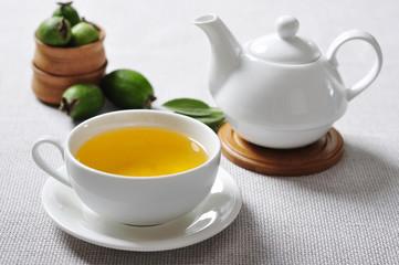 herbal tea and  pineapple guava