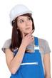 Portrait of a woman builder