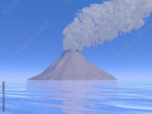 Eruption - 3D render