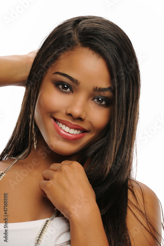 Portrait of Young Beautiful African American Woman