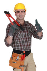 Handyman giving the thumbs-up