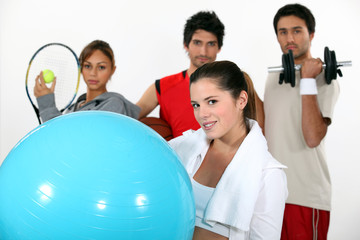 young people practicing different sports