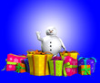 Fat Snowman and Gifts