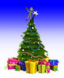 Elf On Christmas Tree