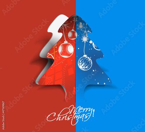 peel off christmas tree, design, vector illustration.