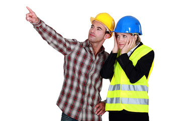 Architect and foreman