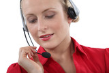 Portrait of telephone operator