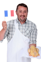 Frenchman waving the flag for French poultry