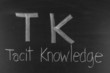 TK concept written on blackboard background high resolution