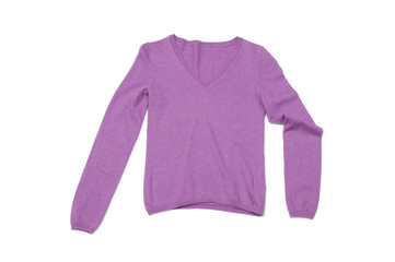 Pink long sleeve shirt isolated