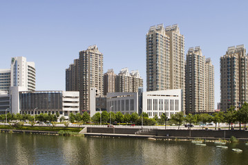 modern building in Tianjin city of China