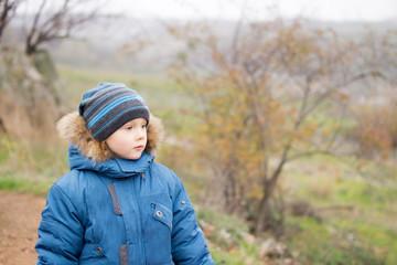 Young boy enjoying the view