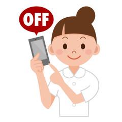 携帯電話OFF ナース
