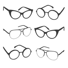 Set of sunglasses shapes. Different glasses