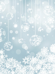Elegant christmas silver background. EPS 8