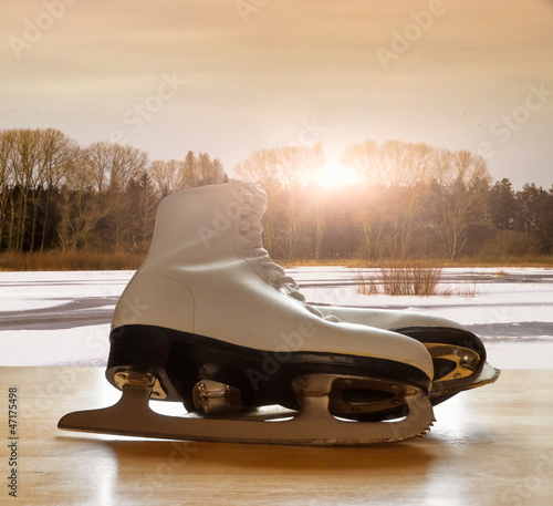 Ice Skates in Sunlight