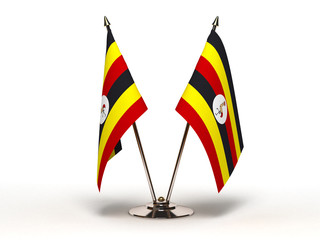 Miniature Flag of Uganda (Isolated)