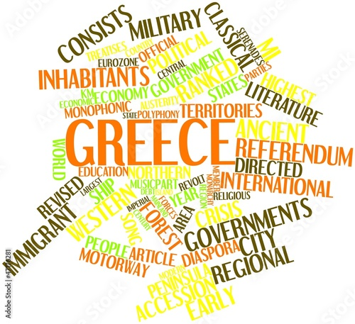 Word cloud for Greece