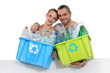 couple waste sorting