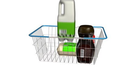 Shopping Basket Filling with Items