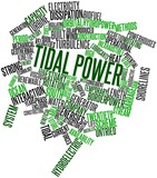 Word cloud for Tidal power