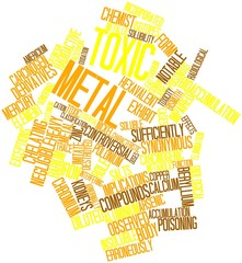 Word cloud for Toxic metal