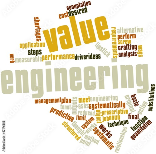 Word cloud for Value engineering