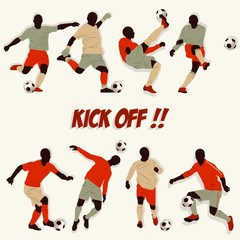 soccer kick off cartoon