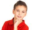 Face of adorable young  boy