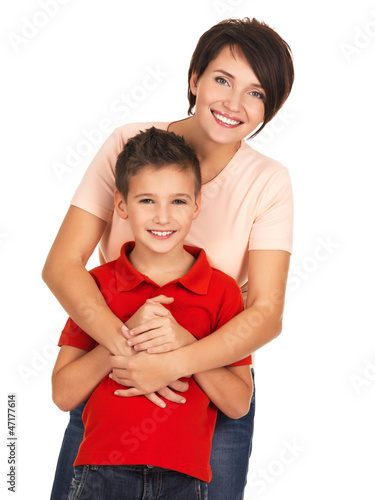 Happy young mother with son