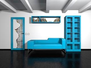 modern blue furniture